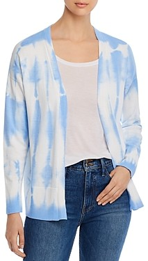 Design History Tie-Dyed Open-Front Cardigan
