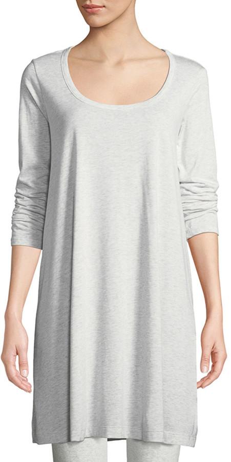 Joan Vass Scoop-Neck Long-Sleeve Tunic
