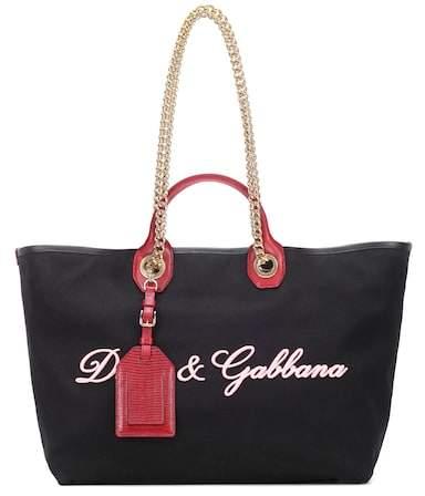 Dolce & Gabbana Embroidered canvas shopper