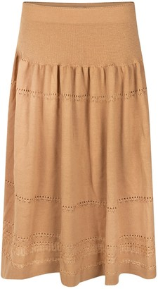 BEIGE Studio Myr Calf-Length Bohemian Chic Knitted Skirt Sweety
