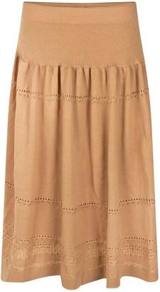 Studio Myr Calf-Length Bohemian Chic Knitted Skirt Sweety-Honey.