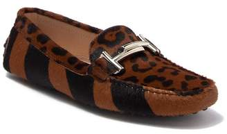 Tod's FUR Gommini Maxi Doppia Genuine Animal Hair Double T Loafer