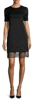 Prabal Gurung Alabaster and Obsidian Textured Cotton Shift Dress
