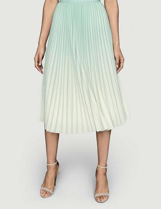 Reiss Mila gradient-print high-waist woven midi skirt