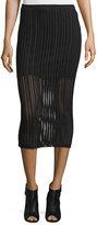Alexander Wang Jacquard Midi Skirt, Black