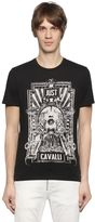 Just Cavalli Printed Cotton Jersey Shirt