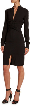 Tom Ford Heavy Crepe Shirred-Center Dress
