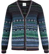 Paul Smith Long-sleeved wool-blend Fair Isle knit cardigan
