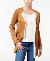 Style&Co. Style & Co Faux-Suede Open-Front Jacket, Only at Macy's
