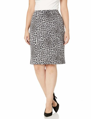 Kasper Women's Leopard Printed Slim Skirt