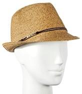 Merona Women's Straw Hat Fedora Gold Bar