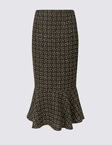 Per Una Textured Fishtail Pencil Midi Skirt