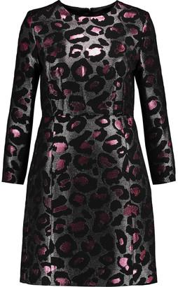 Marc by Marc Jacobs Metallic Leopard-jacquard Mini Dress