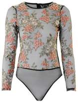 Topshop Long sleeve winter floral body