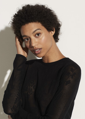 Vince Lace Stitch Pullover
