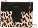 Salvatore Ferragamo leopard print Gancio shoulder bag - women - Calf Leather - One Size