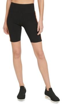 DKNY Sport Gradient-Stripe High-Waist Bike Shorts