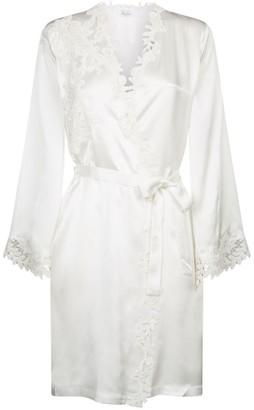 Marjolaine Short Lace Trim Robe