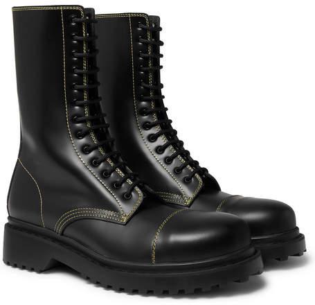 84223c25973 Cap-Toe Leather Boots - Men - Black