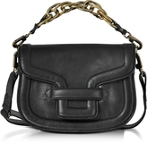 Pierre Hardy Black Grainy Leather Mini Alpha Ville Shoulder Bag