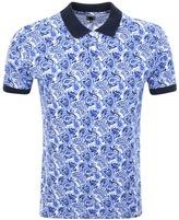 Pretty Green Caversham Print Polo T Shirt Blue