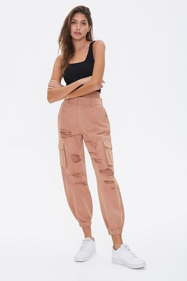 Forever 21 Distressed Cargo Joggers