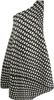 Pleats Please Issey Miyake patterned one-shoulder dress