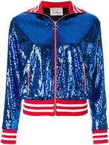 Laneus paillette bomber jacket