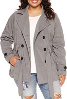Joujou Jou Jou Multi-Zip Trench Jacket - Juniors Plus