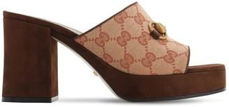 Gucci 85mm Houdan Cotton Canvas Slide Sandals