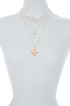 Area Stars Flower Layered Necklace Set