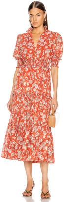 Alexis Isarra Dress in Saffron Floral | FWRD
