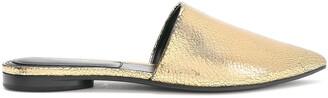 Michael Kors Metallic Textured-leather Slippers