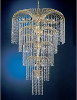 Swarovski House Of Hampton Greeson 26-Light Unique / Statement Tiered Chandelier House of Hampton Crystal Type Elements Golden Teak