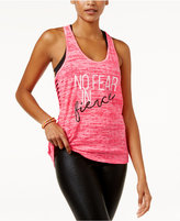 Material Girl Active Juniors' Racerback Cutout Graphic Tank Top, Only at Macy's