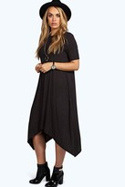 Boohoo Plus Moira Hanky Hem Swing Dress