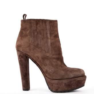 Prada \N Grey Suede Ankle boots