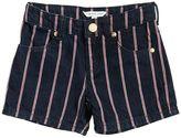 Little Marc Jacobs Striped Cotton Denim Shorts