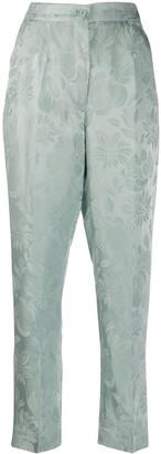 Etro Floral Jacquard Trousers