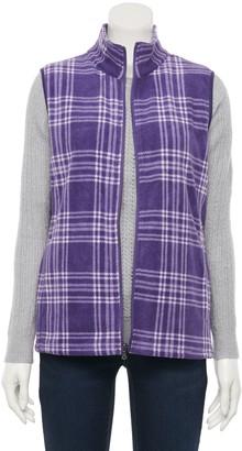 Croft & Barrow Women's Print Fleece Vest