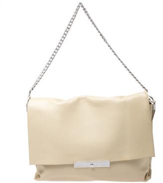 Celine Nude Leather Blade Chain Shoulder Bag
