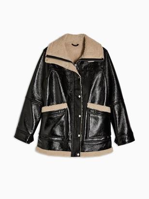 Topshop Otto Borg Lined Jacket - Black