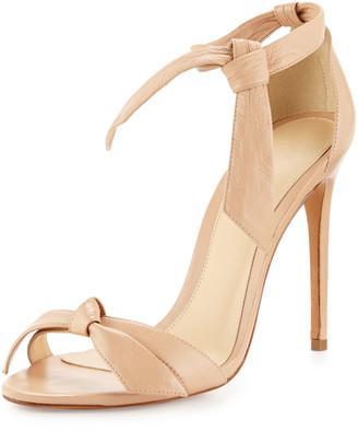 Alexandre Birman Bow-Tie Leather Sandals