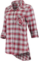 Unbranded Women's Concepts Sport Crimson/Gray Indiana Hoosiers Forge Rayon Flannel Long Sleeve Button-Up Shirt