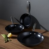 Crate & Barrel Cuisinart ® GreenGourmet TM Fry Pans