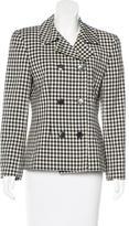 Christian Dior Wool Checked Blazer