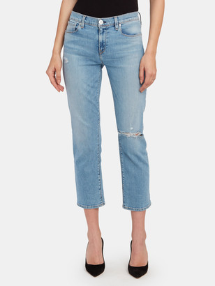 Hudson Nico Mid Rise Crop Straight Jeans