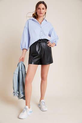 BB Dakota Faux Leather Paperbag Shorts