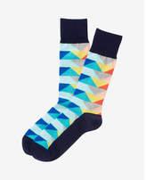 Express geometric pattern dress socks