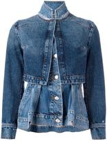 Alexander McQueen layered denim jacket - women - Cotton - 40